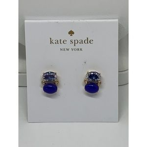 Kate Spade Blue Crystal Earrings NWT $58